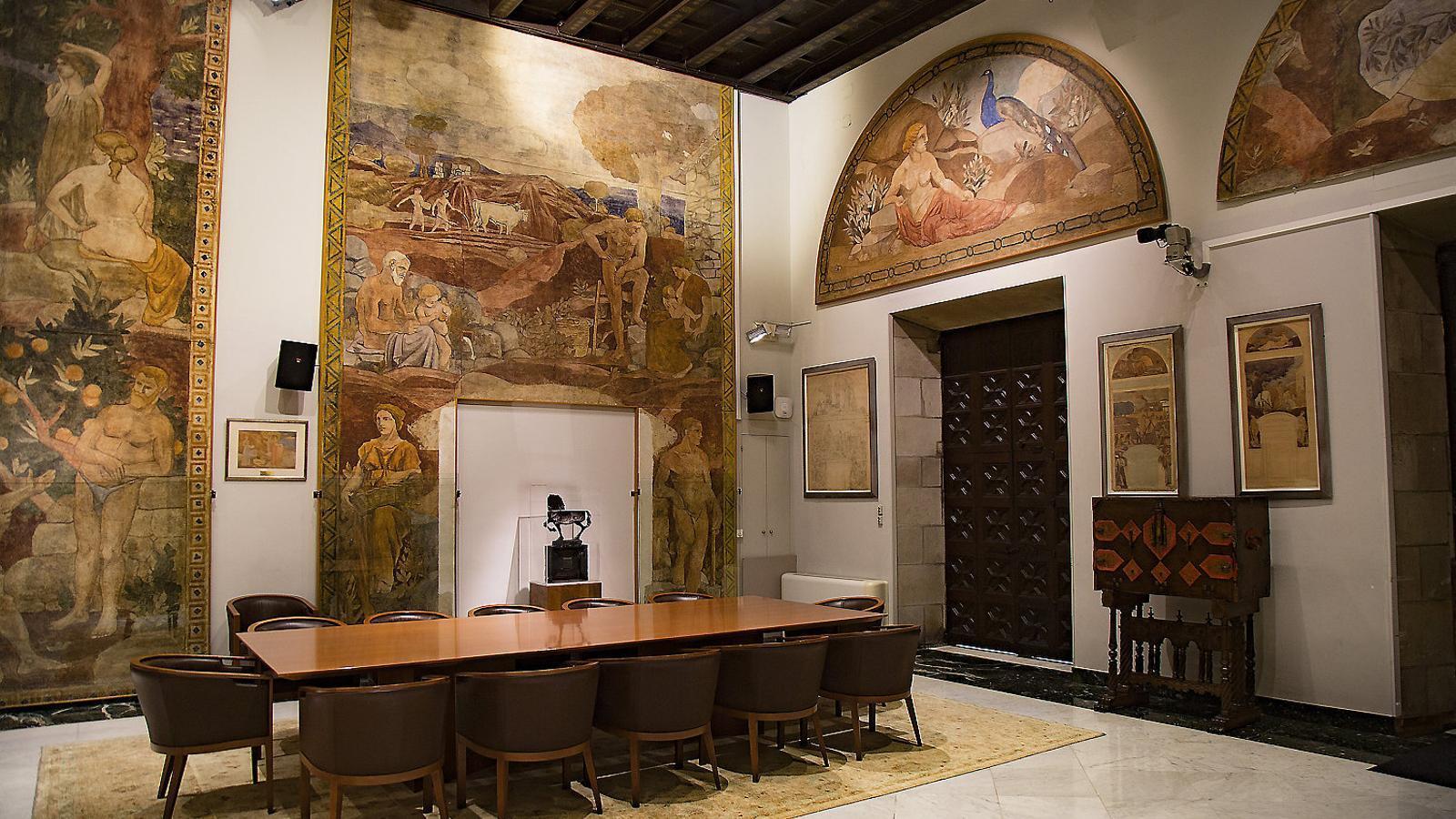 Cap a la restitució de l'obra inacabada de Torres García