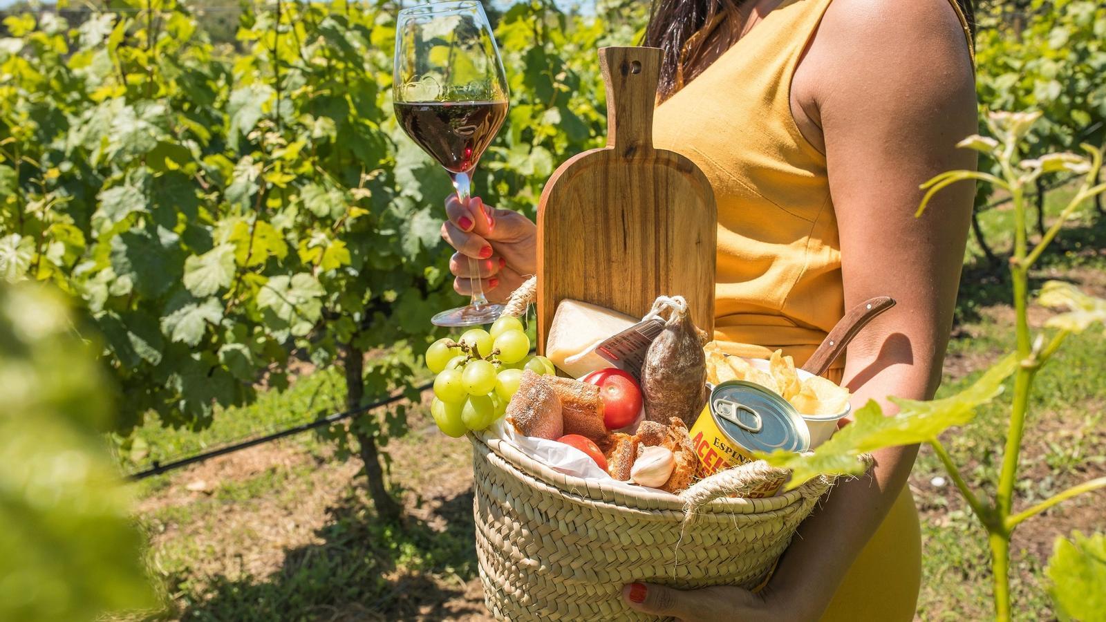 Alguns cellers ofereixen pícnics i degustació de vi