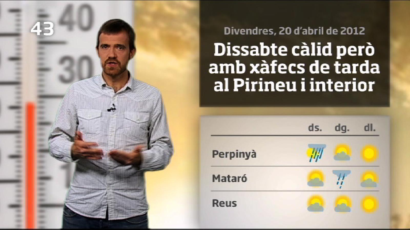 La méteo en 1 minut: cap de setmana insegur, Sant Jordi assolellat (21/04/2012)