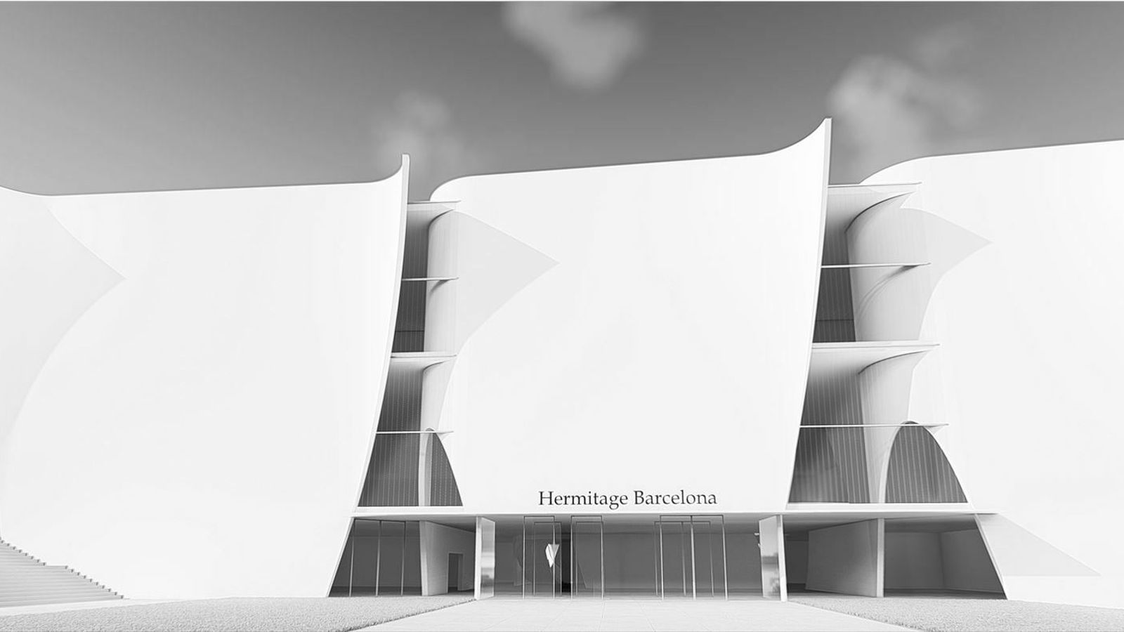 Recreació del projecte de l'arquitecte japonès Toyo Ito per a l'Hermitage de Barcelona