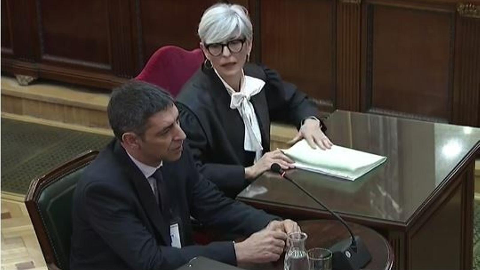 Trapero declara en el judici al Procés