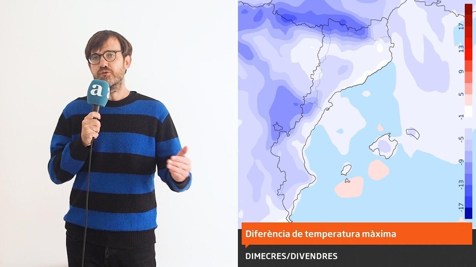 La méteo: aquest dijous serà el dia més càlid de la setmana però després vindrà el fred
