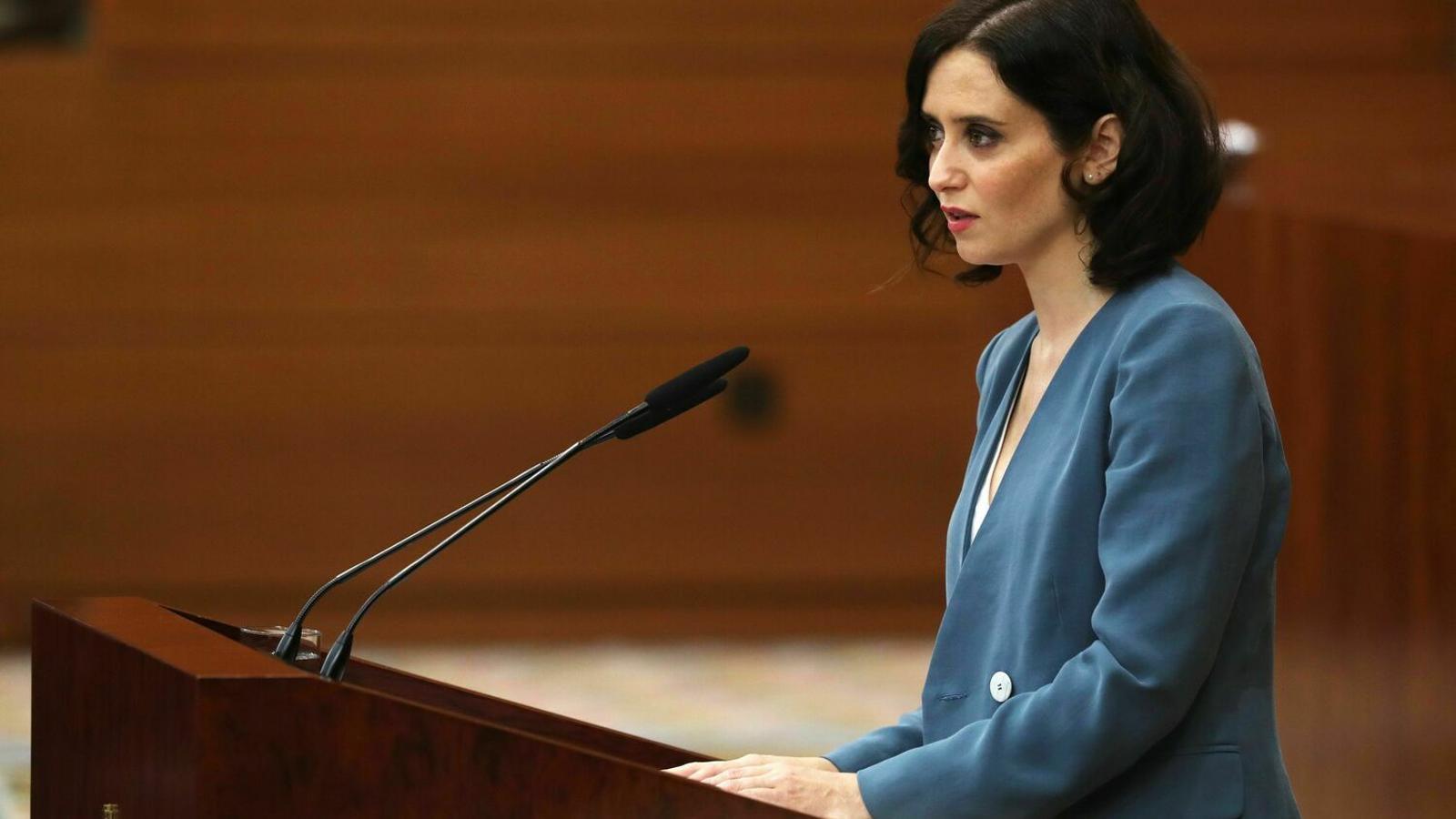 Isabel Díaz Ayuso, presidenta de la Comunitat de Madrid, en una imatge d'arxiu