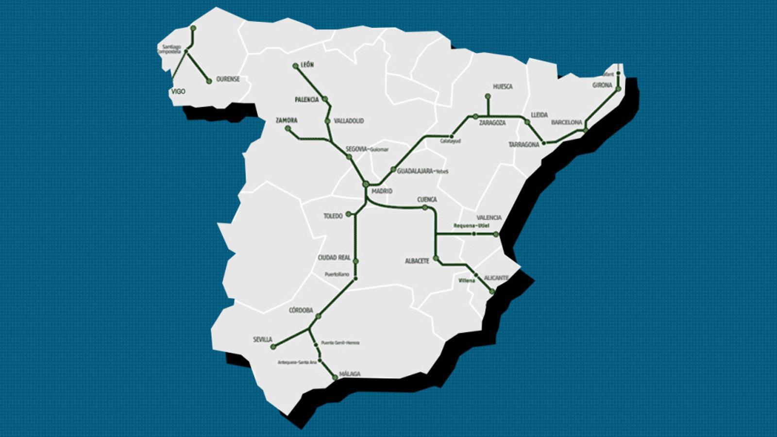 Mapa de l'AVE 2017