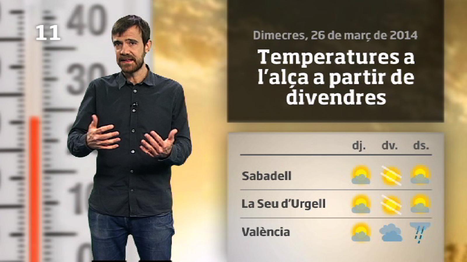 La méteo en 1 minut: dijous hivernal i encara insegur (27/03/2014)