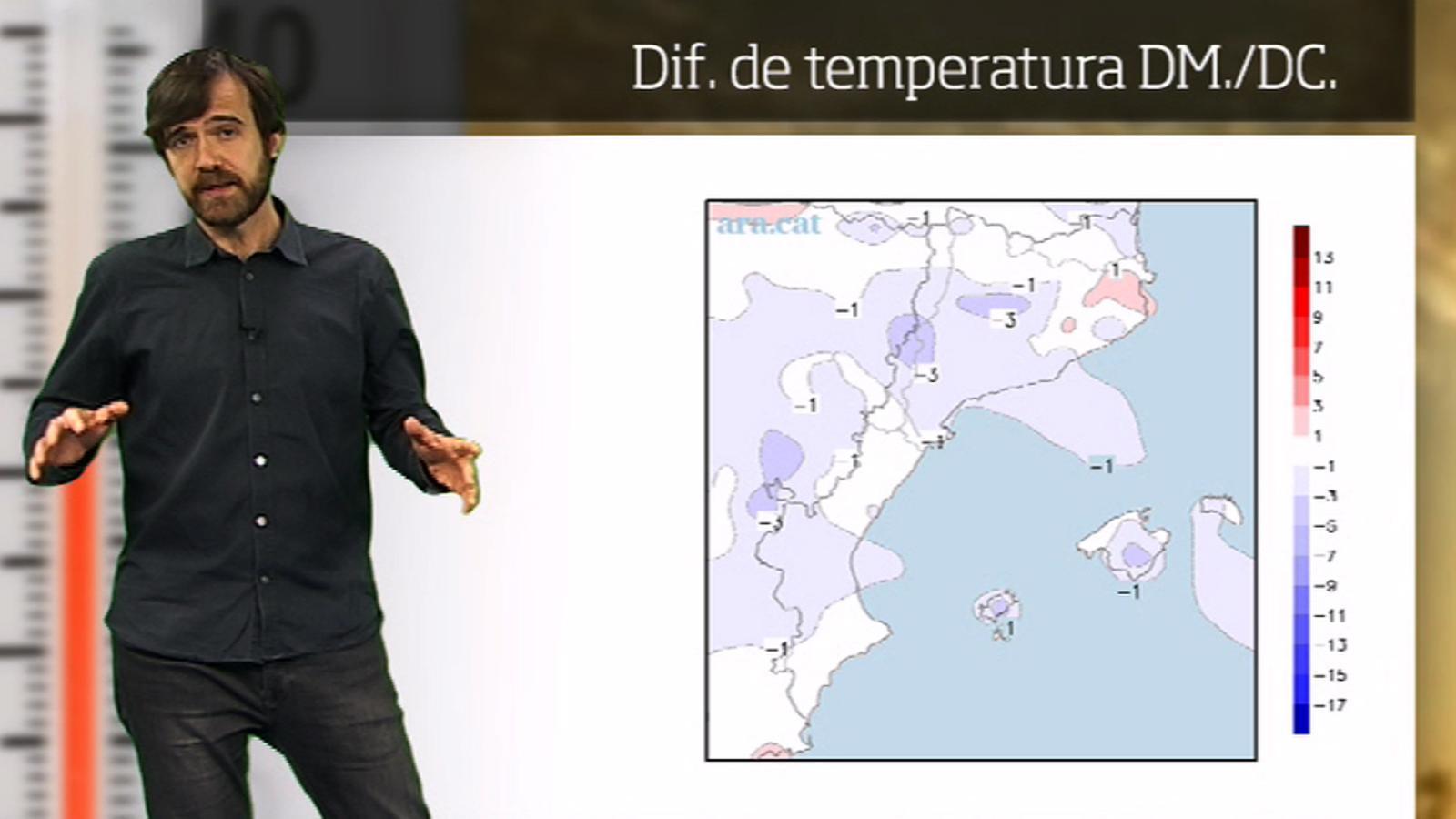 La méteo en 1 minut: ambient més fred a l'espera més canvis de cara a divendres