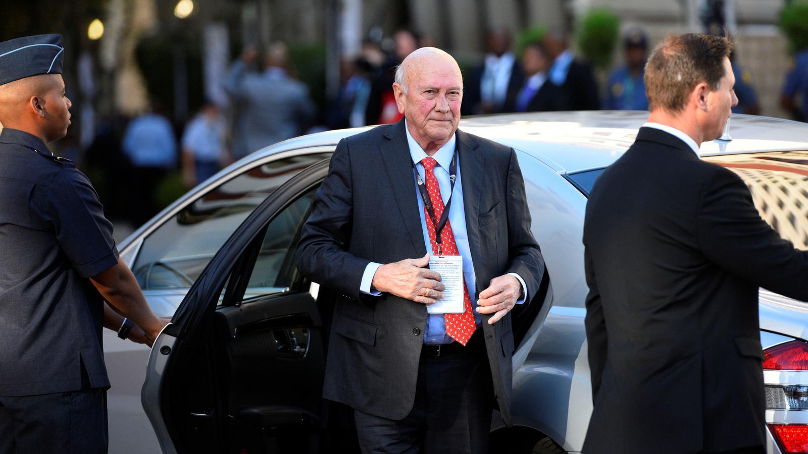 L'expresident sud-africà Frederik Willem de Klerk