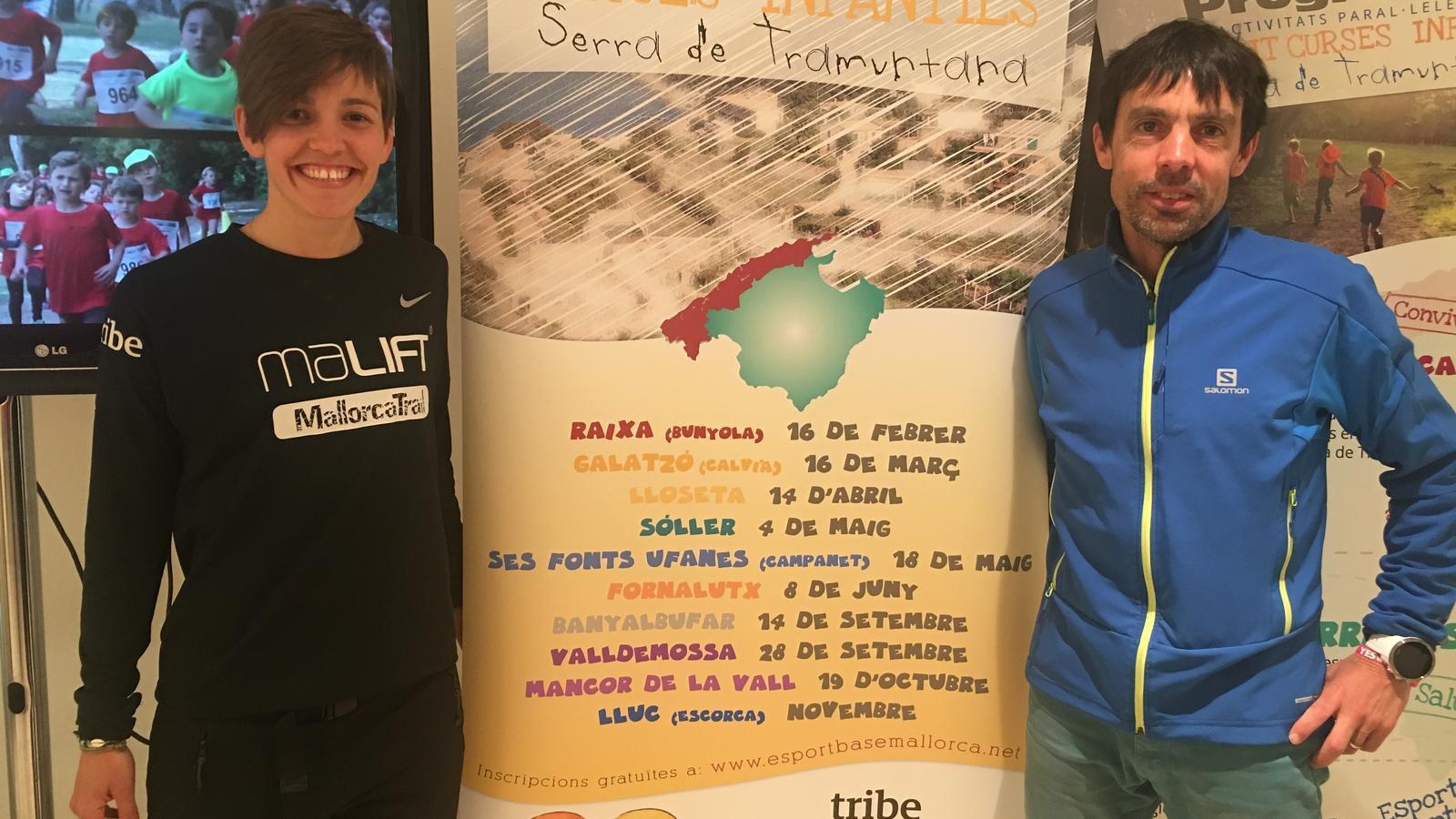 Tòfol Castanyer i Bel Calero promocionen les Curses Infantils Serra de Tramuntana