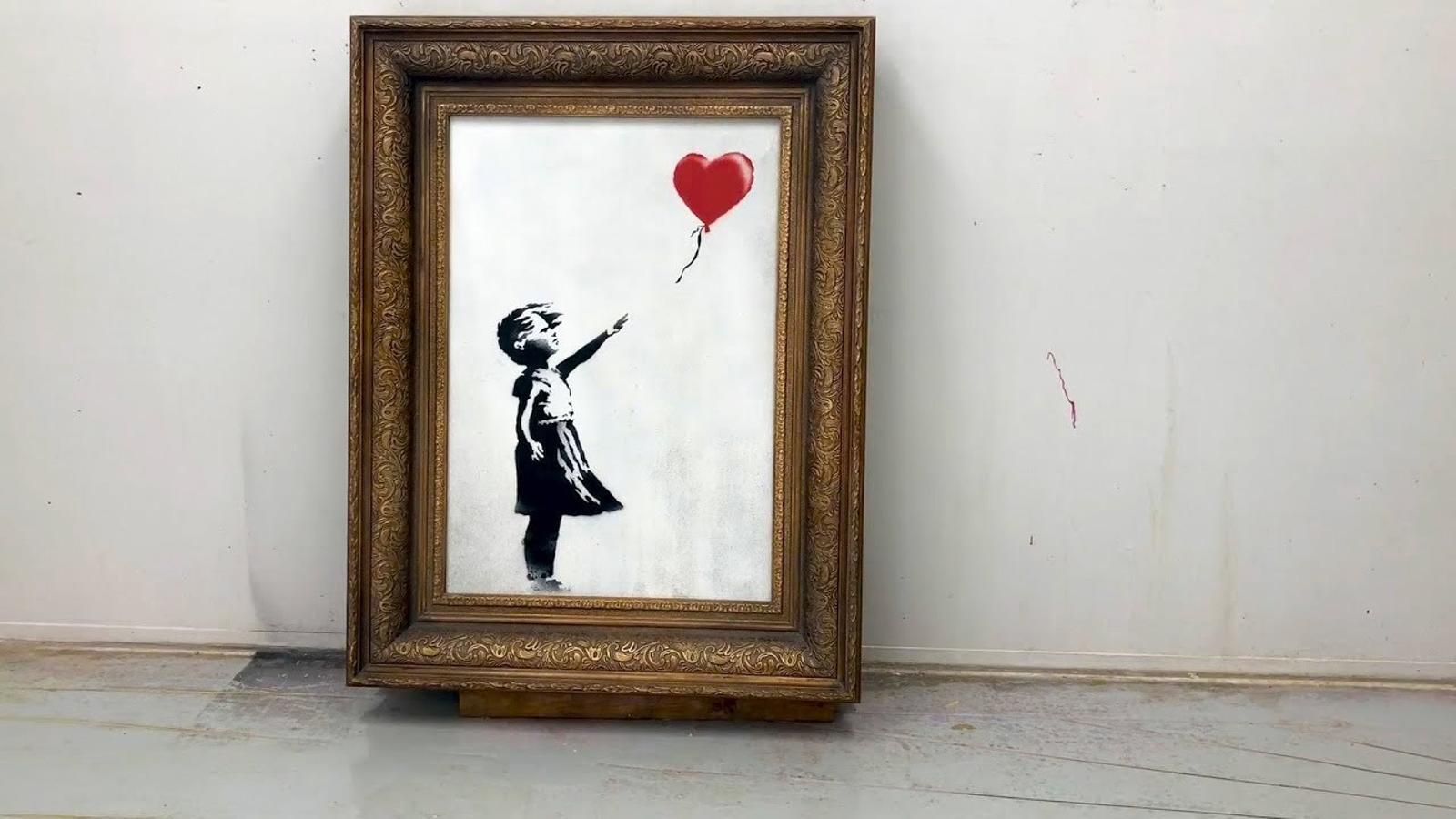 Banksy afirma que volia destruir del tot la seva obra