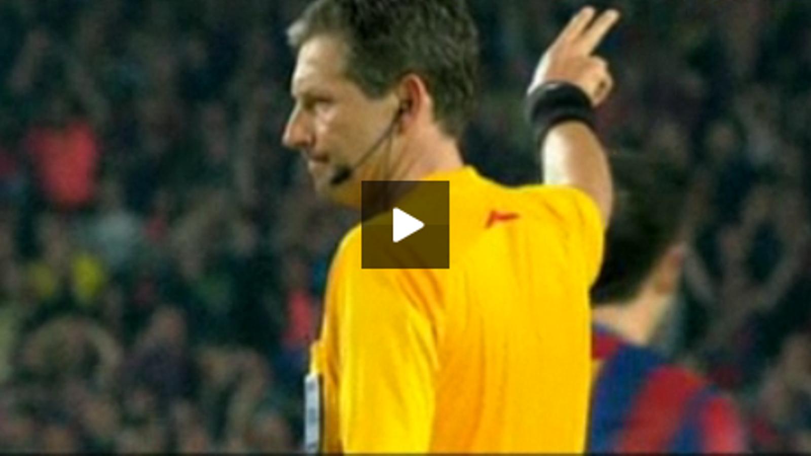 Vídeo del Reial Madrid sobre l'àrbitre Frank De Bleeckere