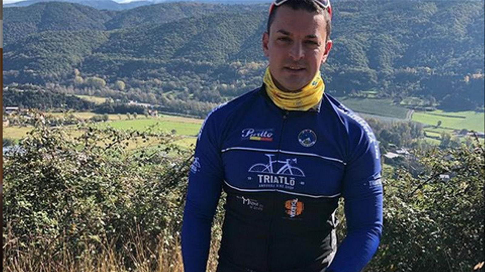 Jordi Gallardo durant una sortida amb bici de carretera. / INSTAGRAM