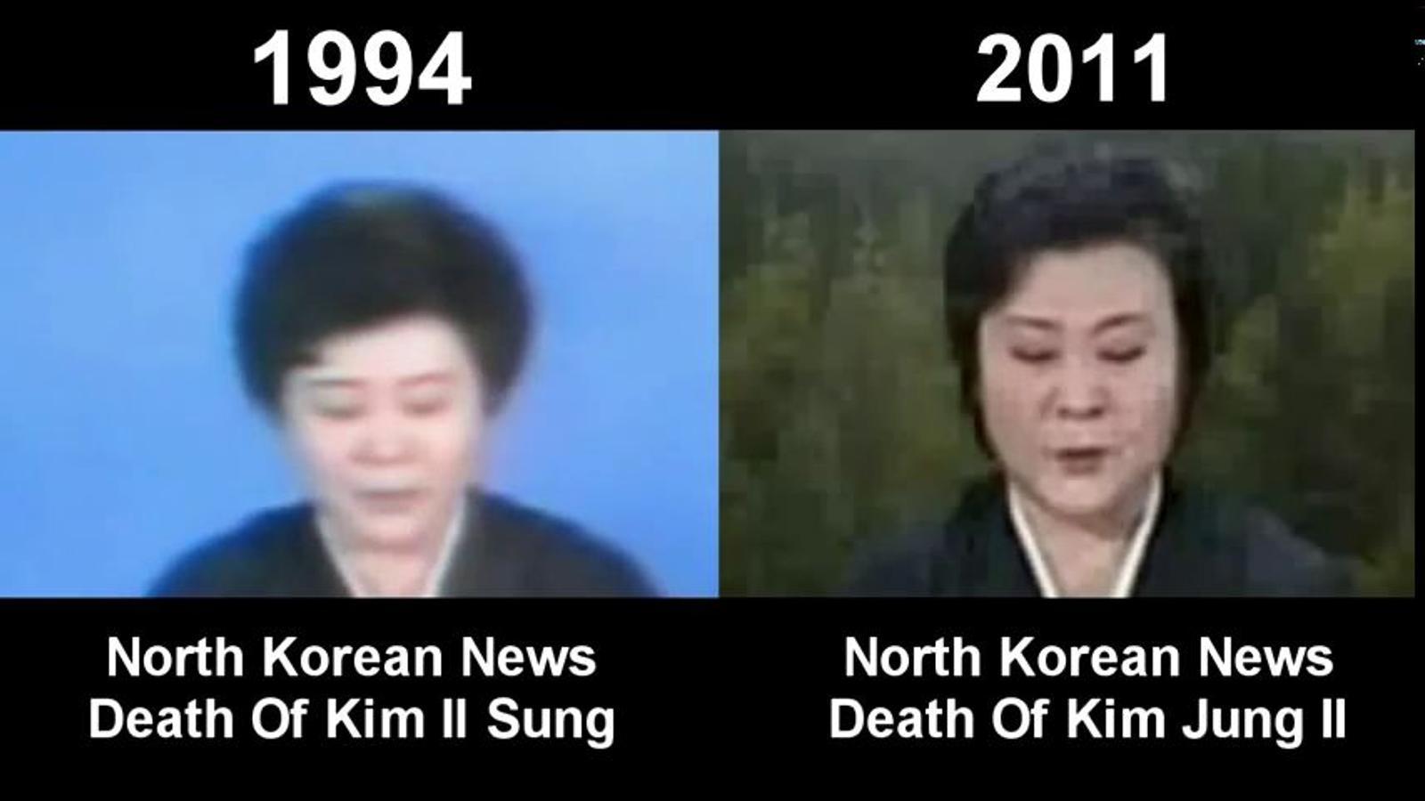 La mateixa presentadora per anunciar la mort de Kim Il-sung i la de Kim Jong-il?