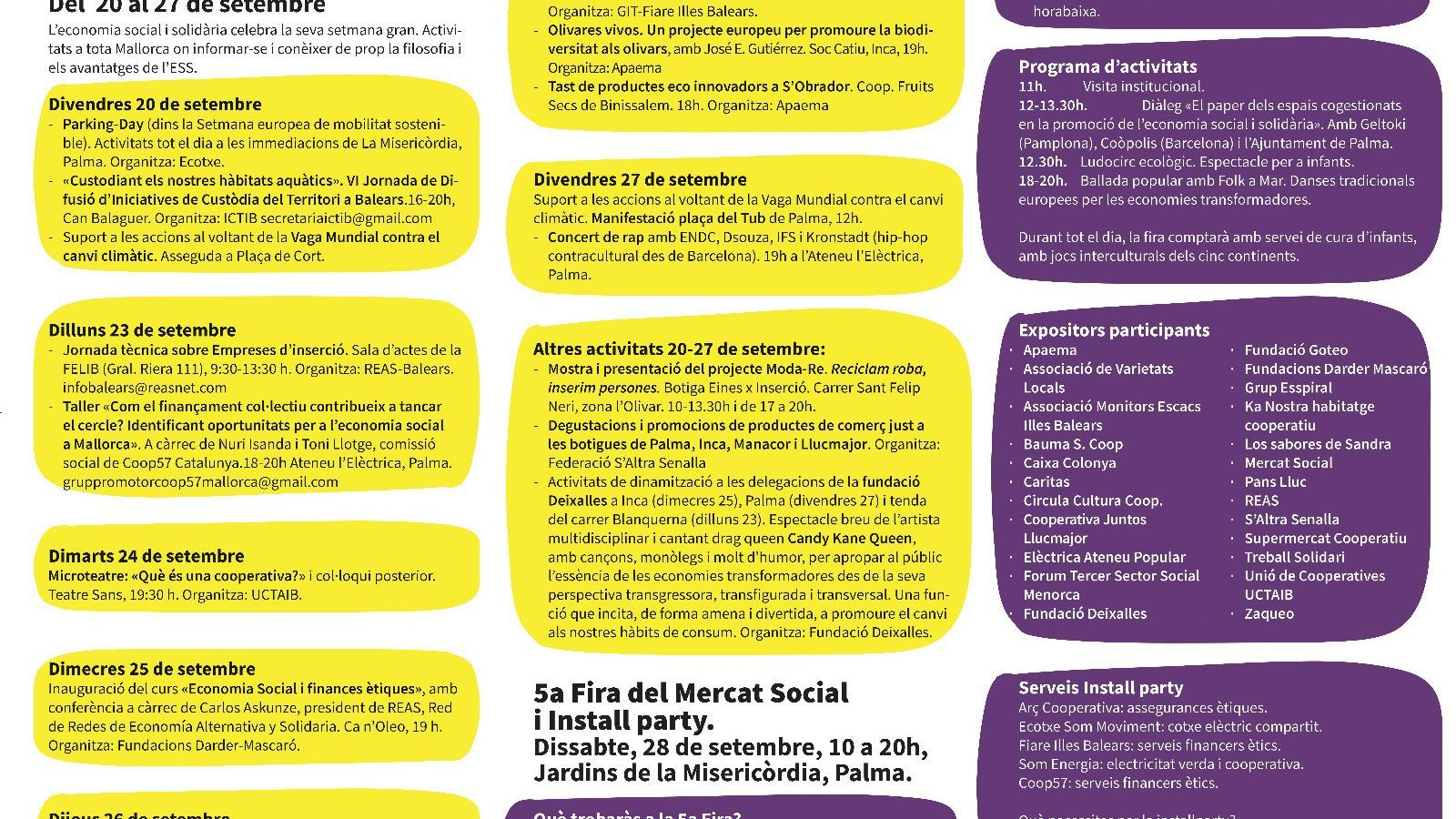 Programa Setmana de les Economies Transformadores i del Mercat Social