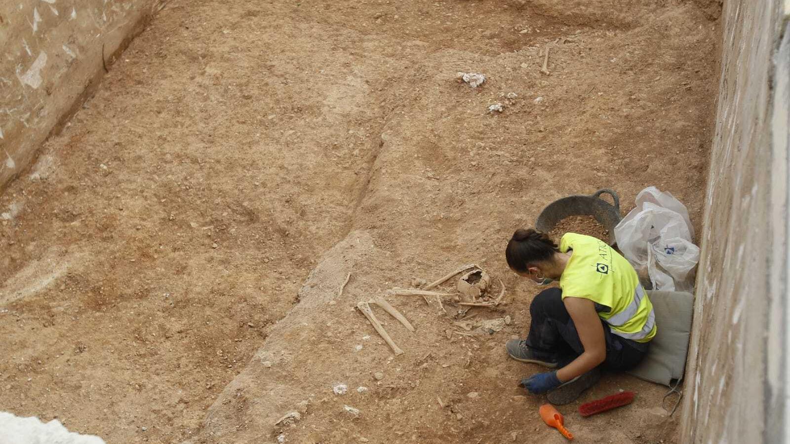 Restes òssies trobades a la fossa de Son Coletes