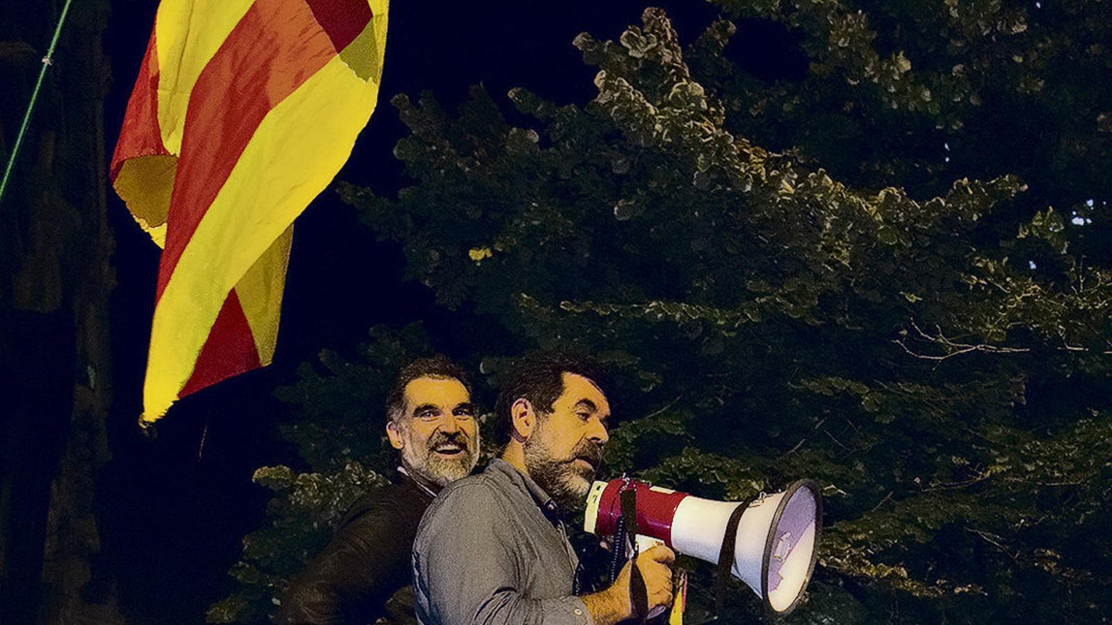 Jordi Sànchez i Jordi Cuixart el 20 de setembre del 2017.