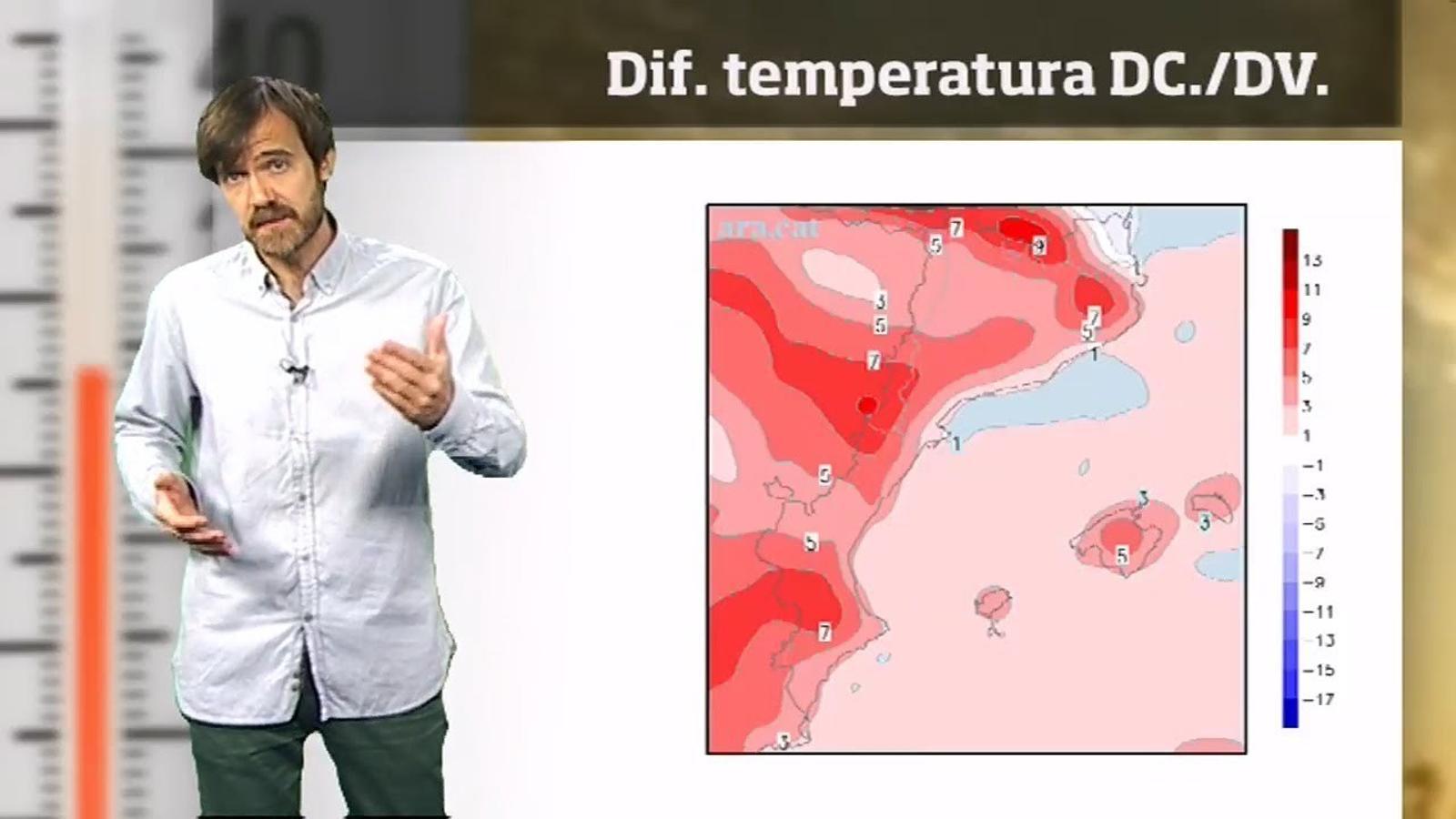 La méteo en 1 minut: temperatures a l'alça i xàfecs més extensos