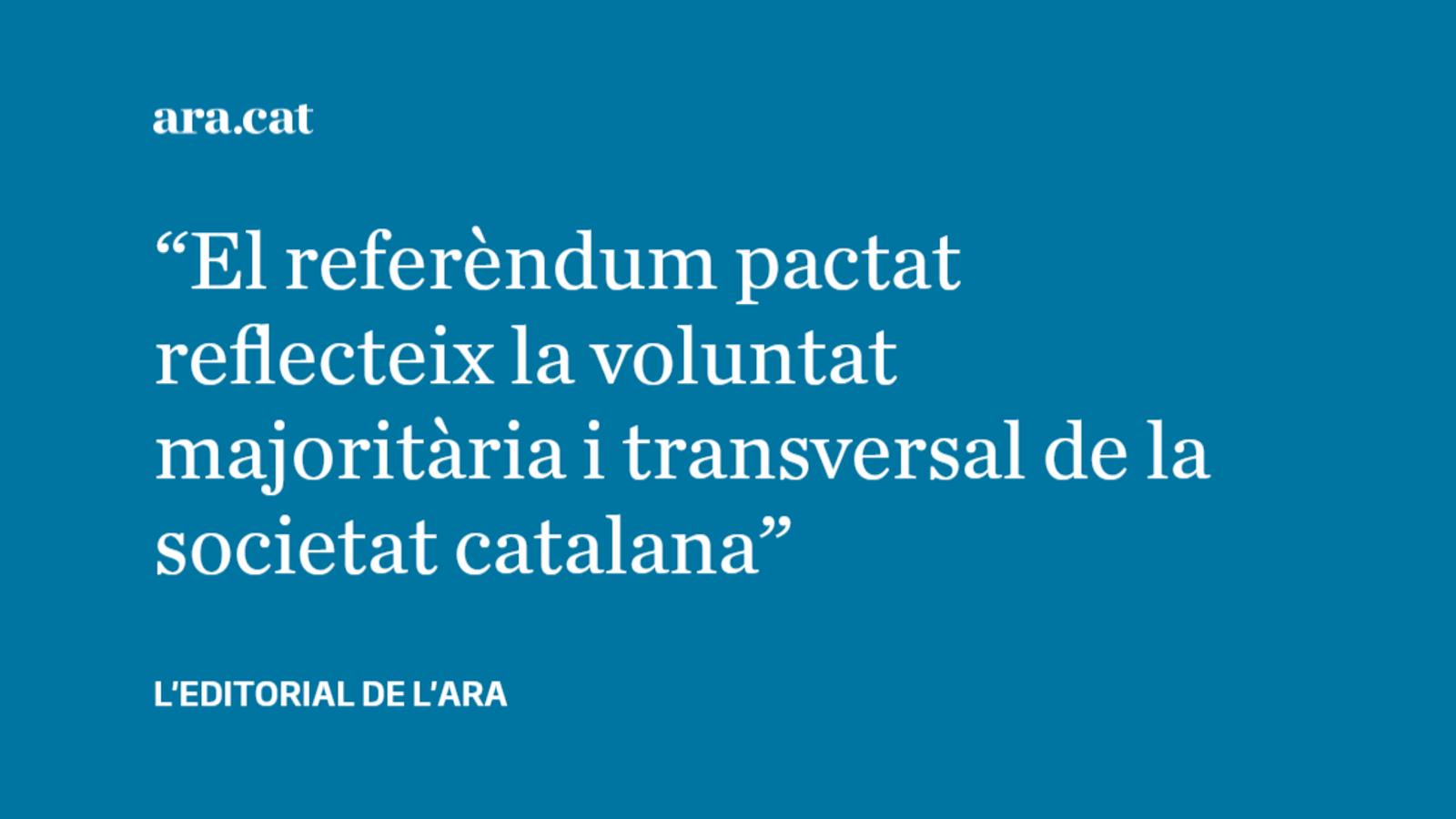 Editorial El consens que reclama Pedro Sánchez ja existeix