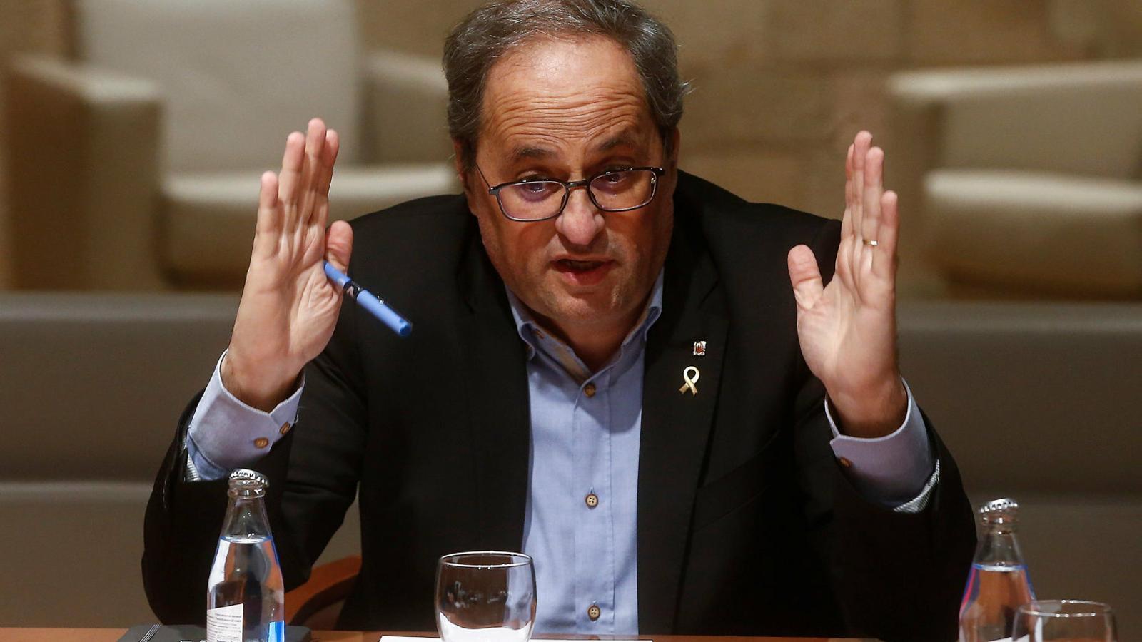 El president Torra, dimarts passat al Palau de la Generalitat.