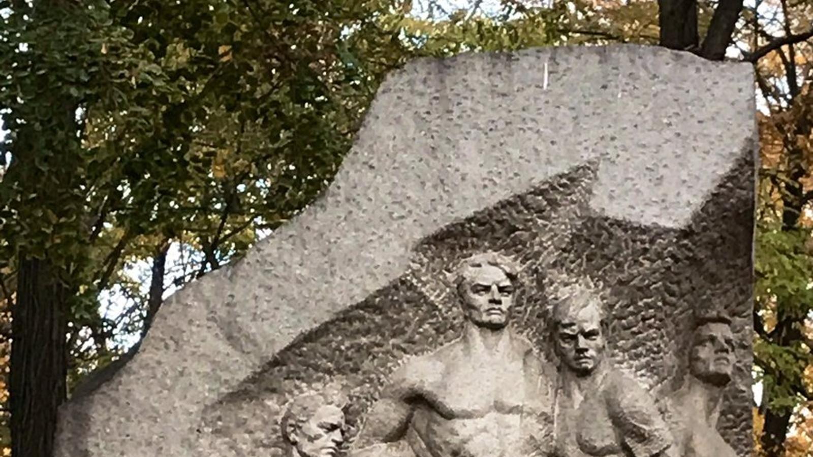 L'estàtua al vell estadi del Dinamo de Kiev