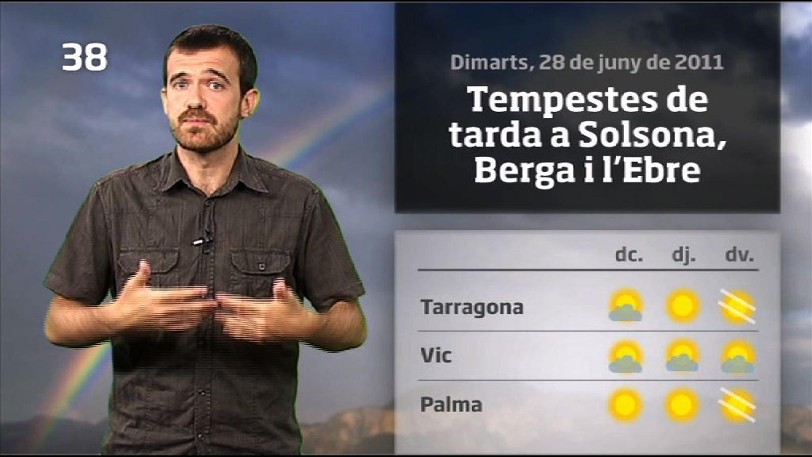 La méteo en 1 minut: s'acaba la calor intensa (28/06/2011)