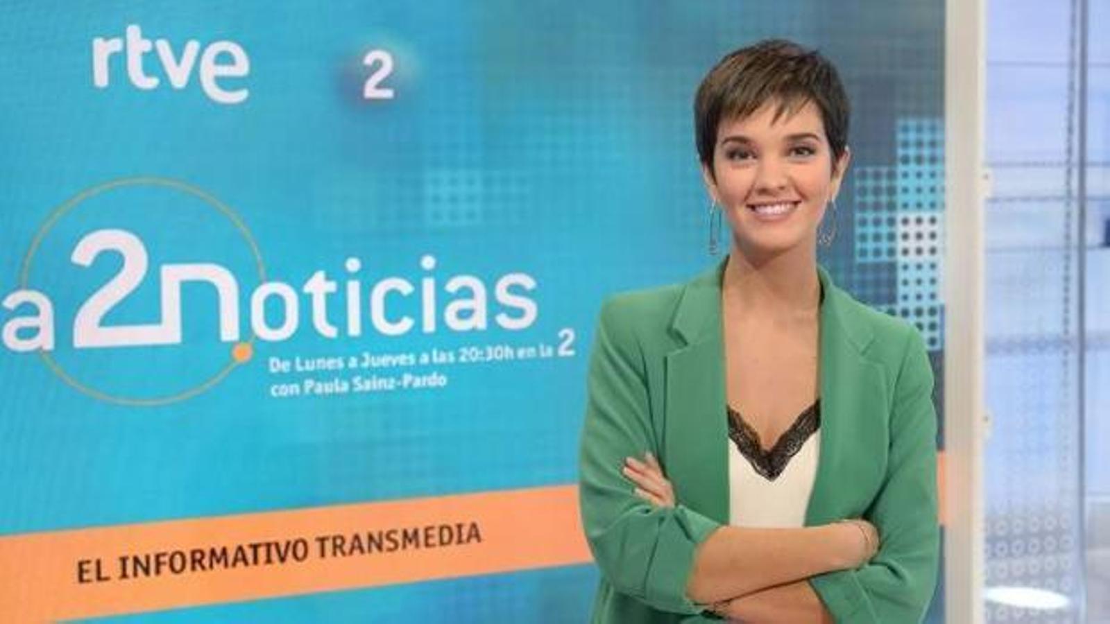 Paula Sainz-Pardo, presentadora de l'informatiu