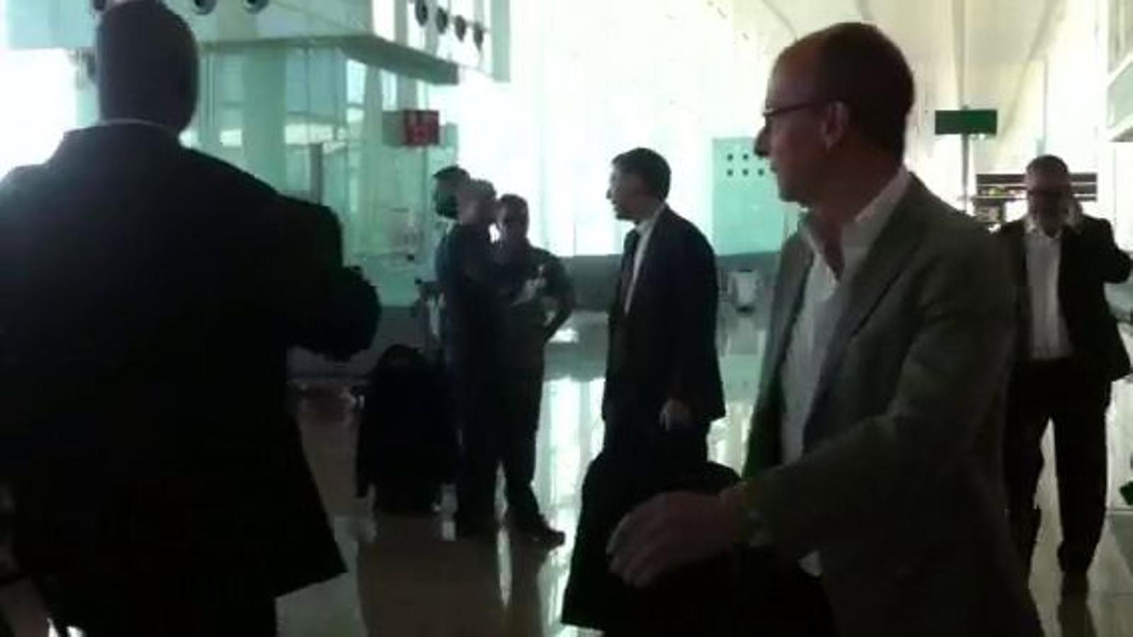 Josep Maria Bartomeu acompanya el Barça a València
