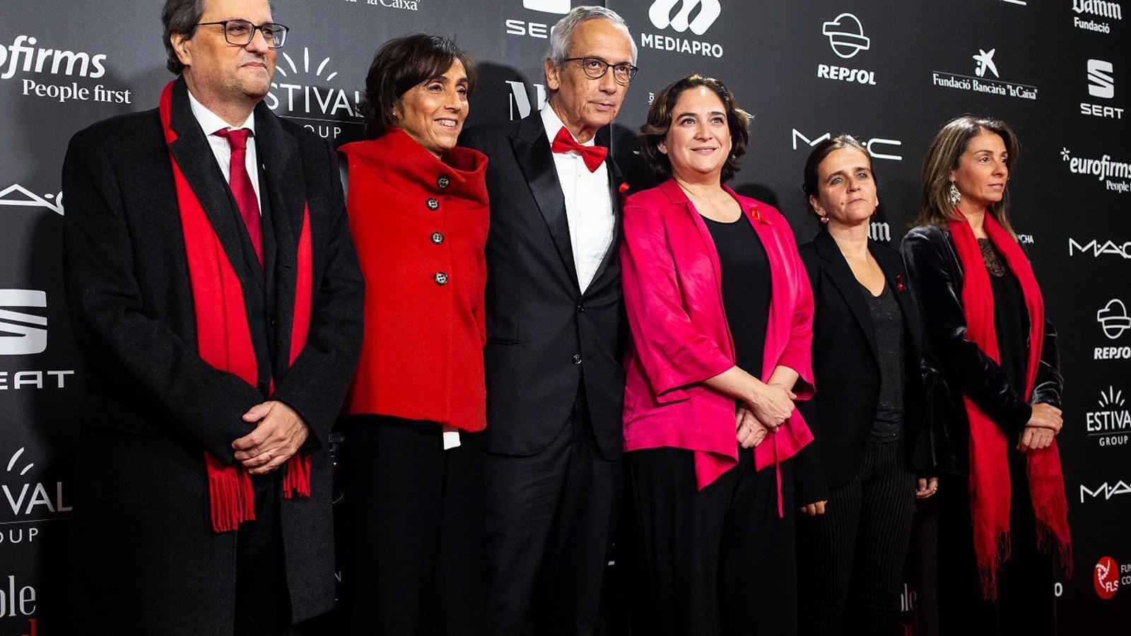 Quim Torra, Bonaventura Clotet i Ada Colau, entre les personalitats assistents.