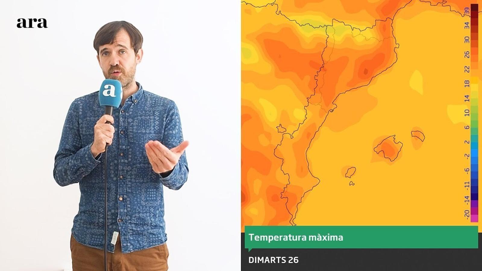 La méteo: aquest dimarts repuntarà la calor