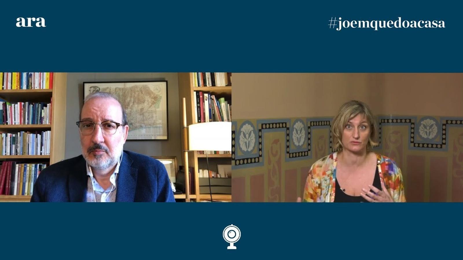 Entrevista d'Antoni Bassas a la consellera Alba Vergés