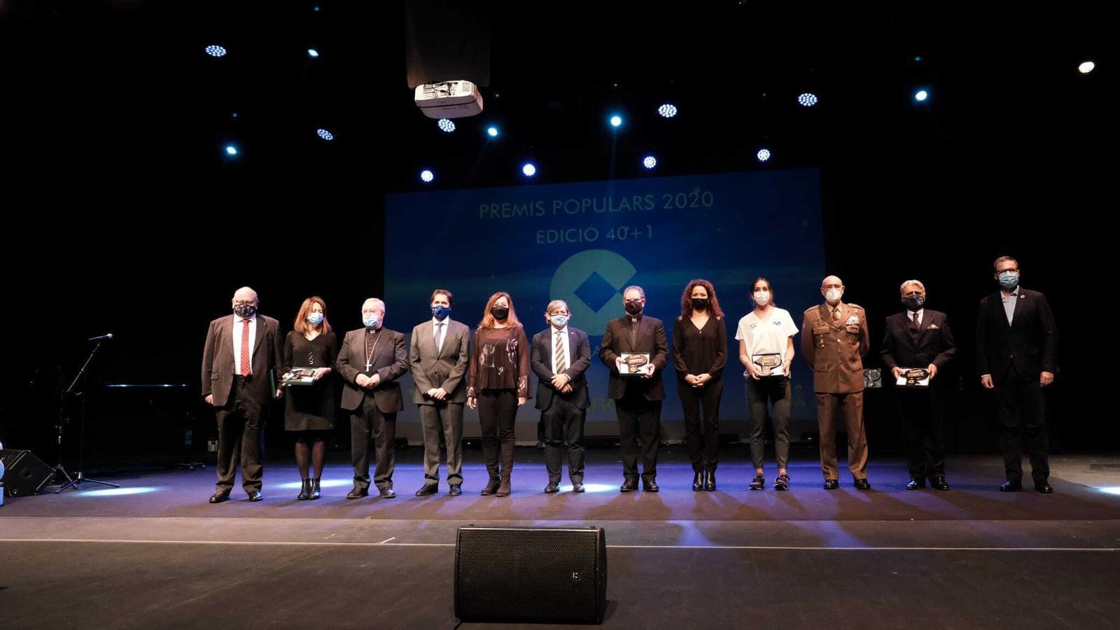 L'acte d'entrega dels Premis Populars 2020 s'ha celebrat al Trui Teatre de Palma.