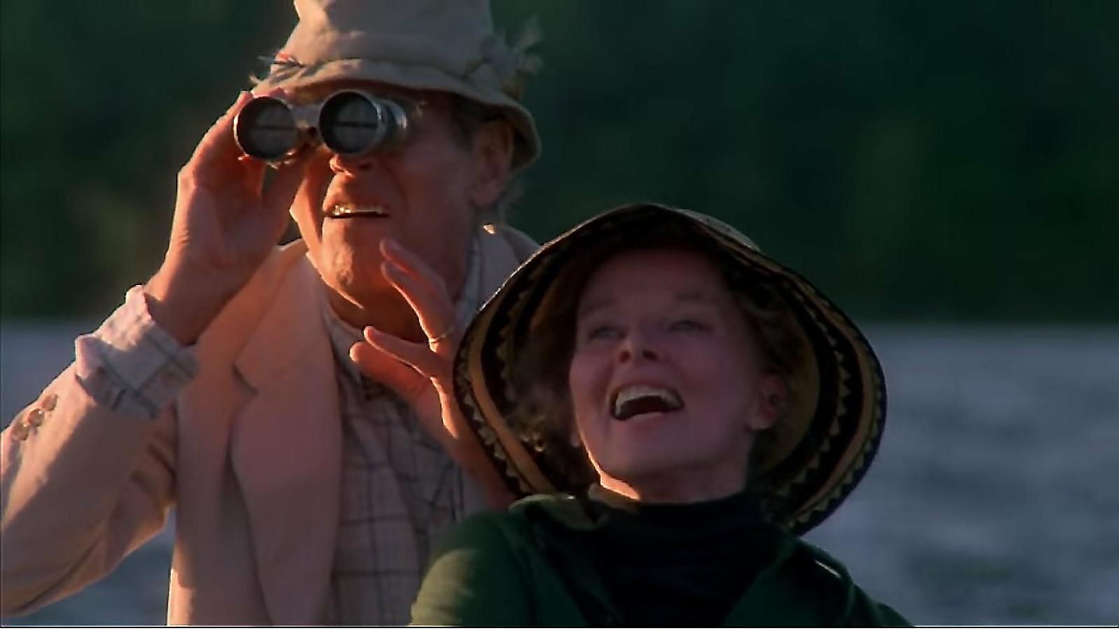 Fotograma d'En el estanco dorado, protagonitzada per Henry Fonda, Katharine Hepburn i Jane Fonda.
