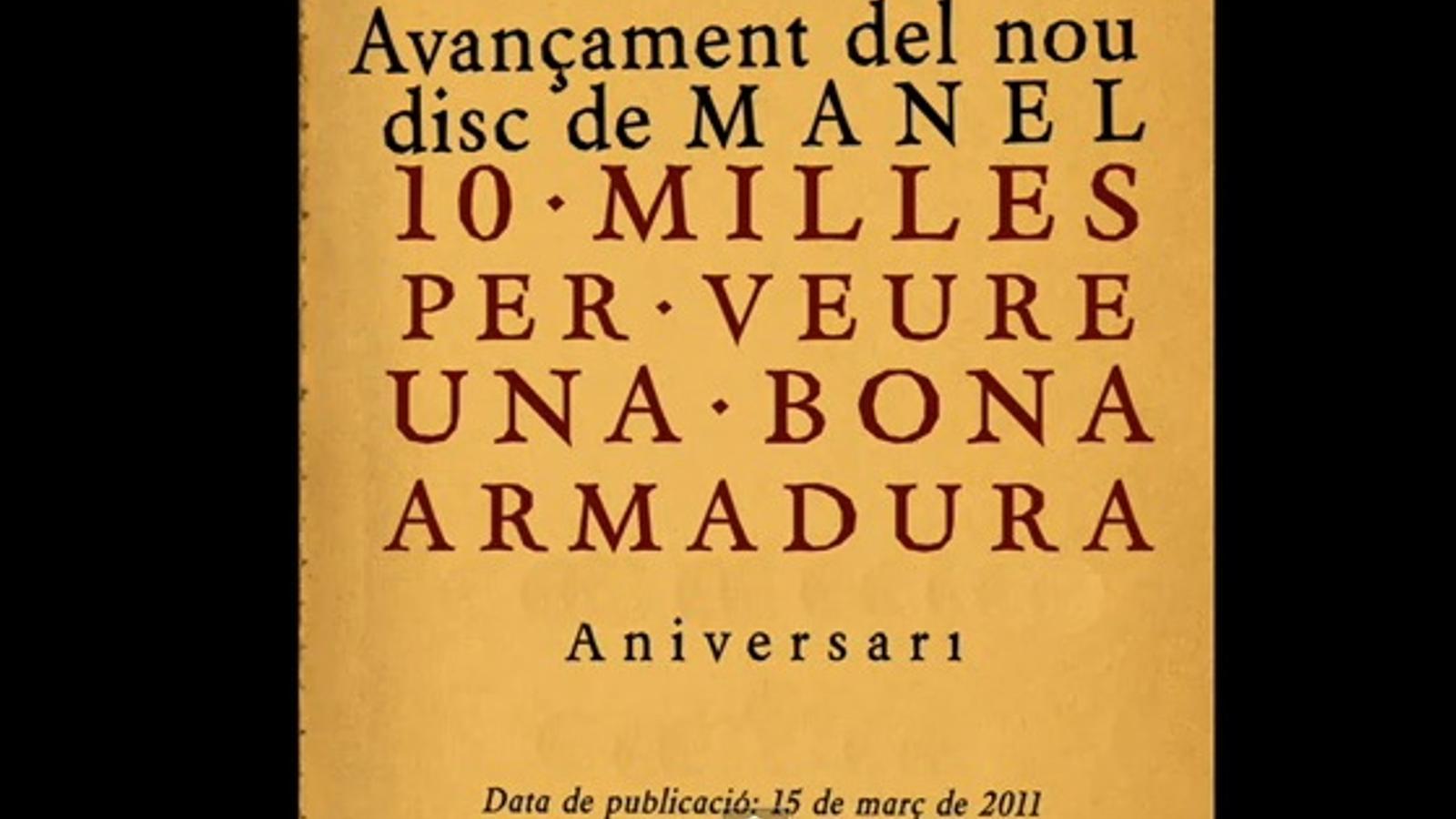 'Aniversari', tema d'avançament del nou disc dels Manel