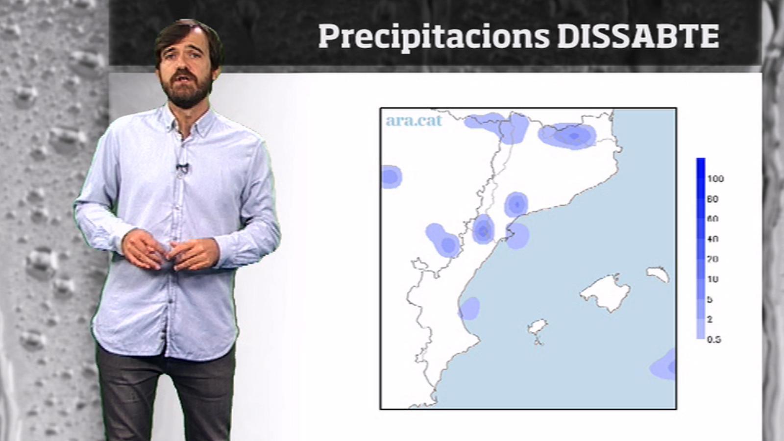 La méteo en 1 minut: ruixats i tempestes abans d'un cap de setmana amb regust d'estiu