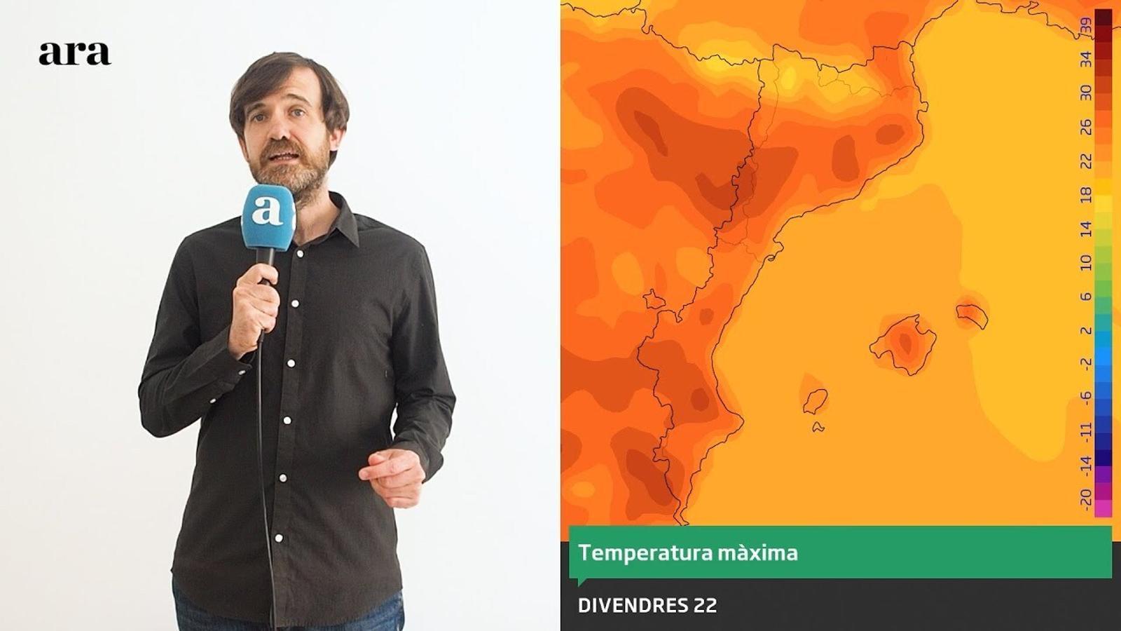 La méteo: el pic de calor arribarà aquest divendres
