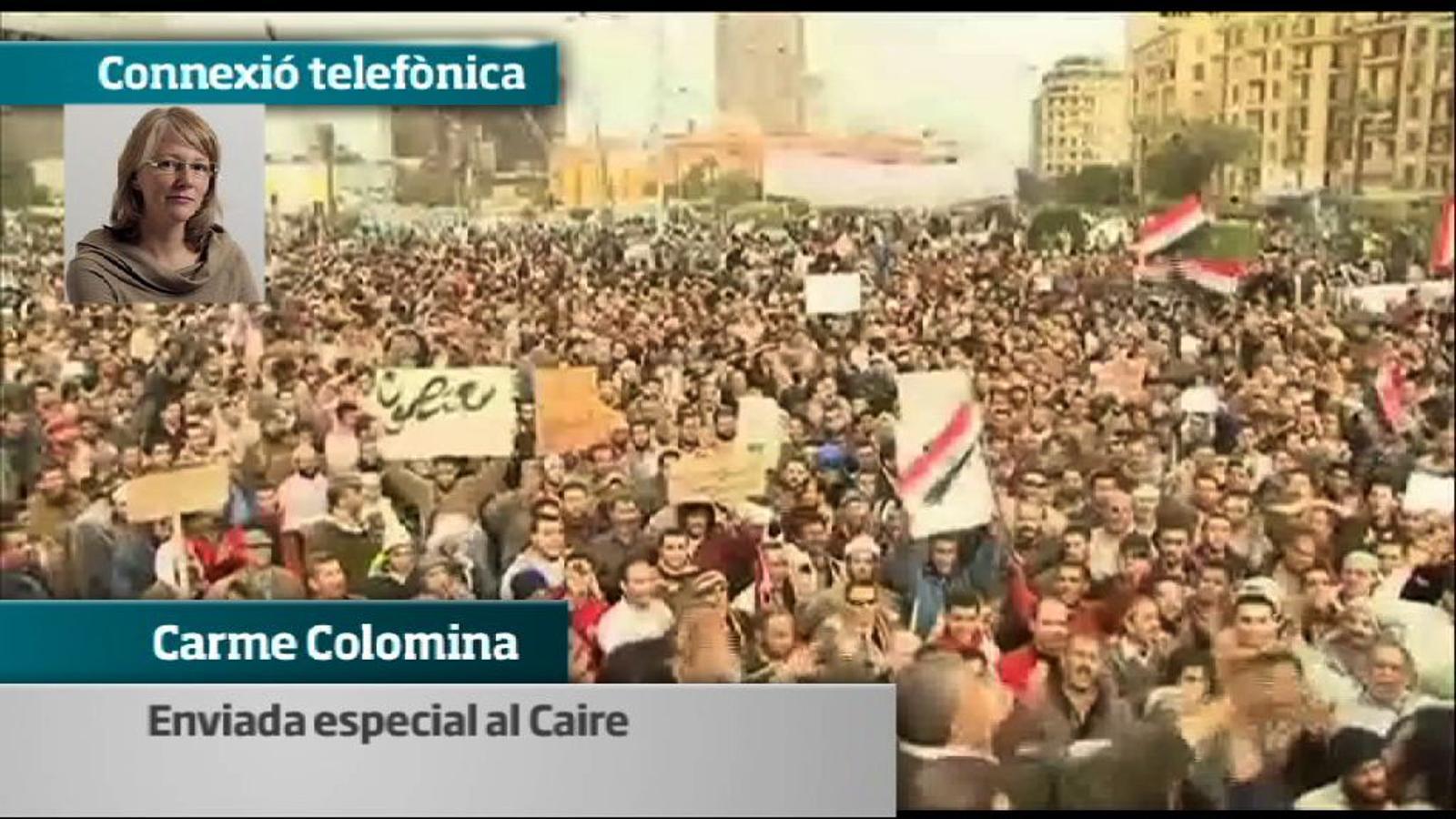 Manifestació pacífica al Caire contra Mubàrak