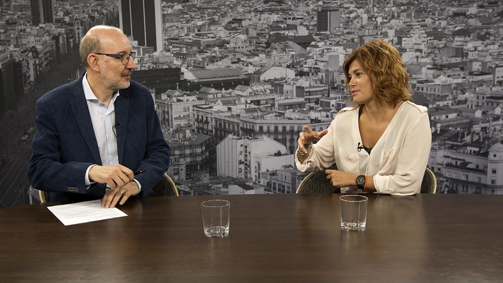 """Elisenda Alamany: """"Les forces independentistes estan més implicades en gestionar l'endemà de l'1 d'octubre"""""""