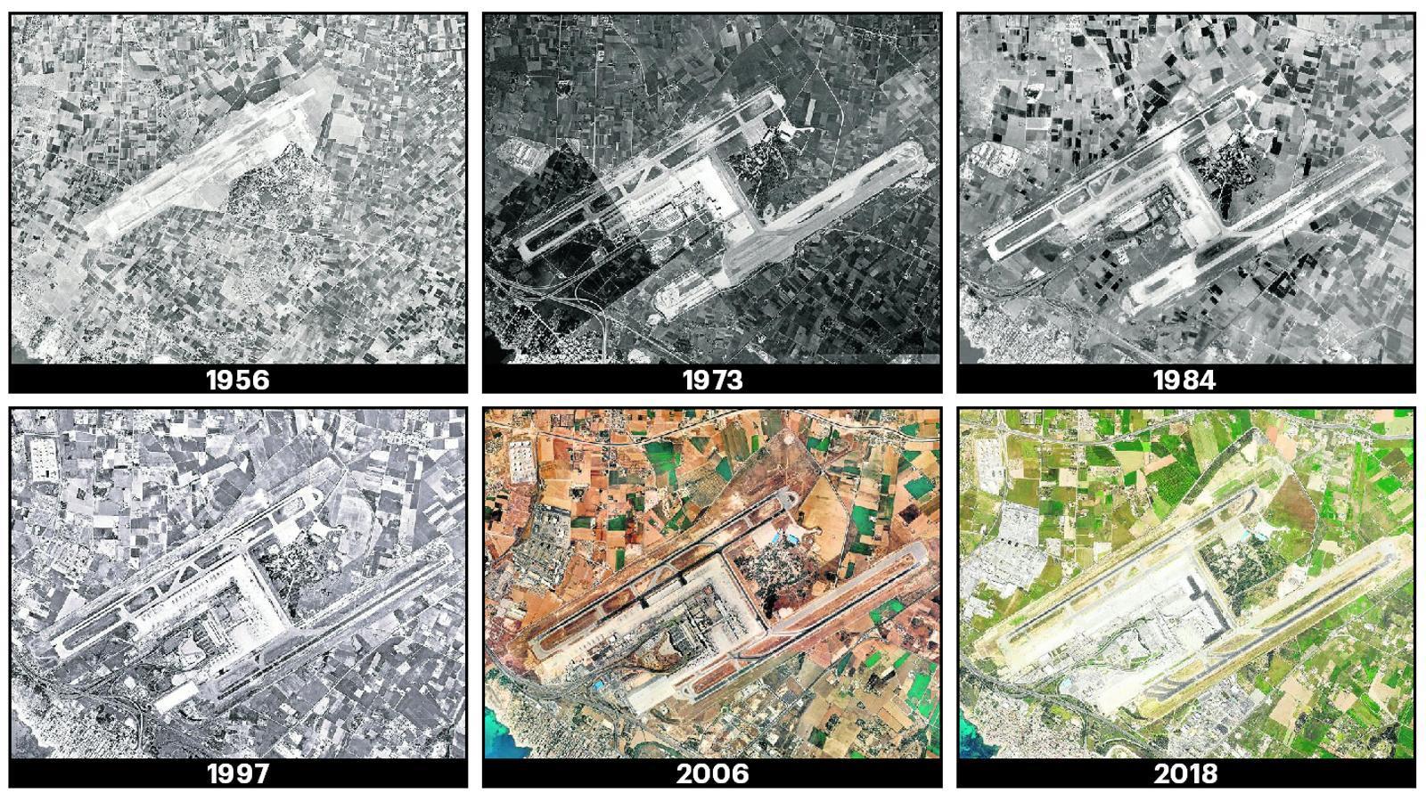Així ha canviat l'aeroport de Palma –i els seus voltants– des que es va començar a construir