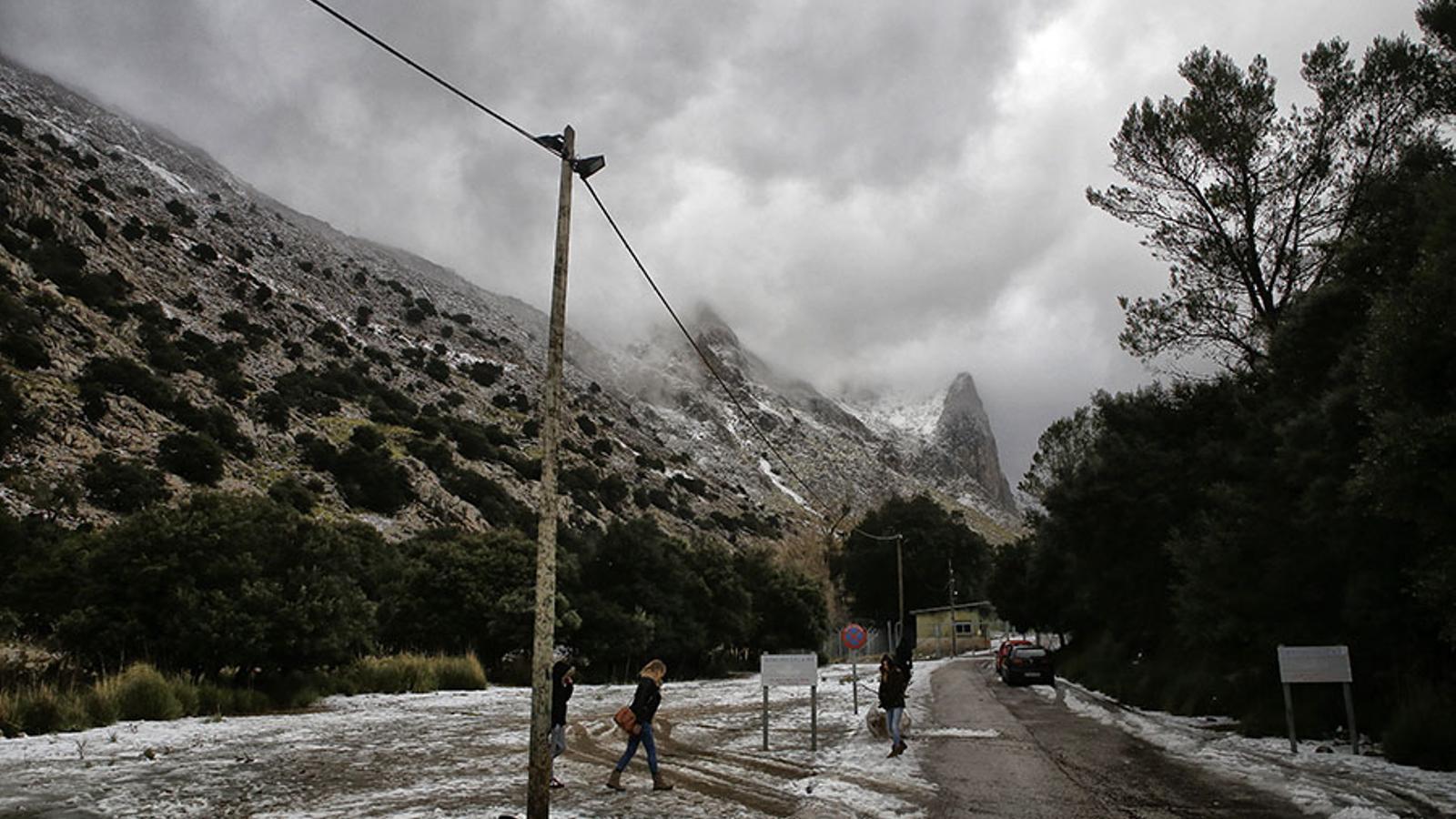 La cota de neu baixarà fins als 400 metres a les Illes a partir de dimecres. / ARA BALEARS