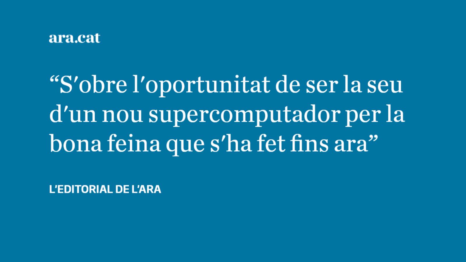 Barcelona pot seguir liderant la supercomputació a Europa