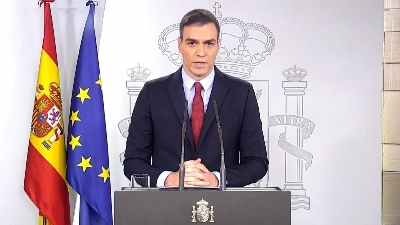 """Pedro Sánchez: """"Aquest virus el pararem junts"""""""