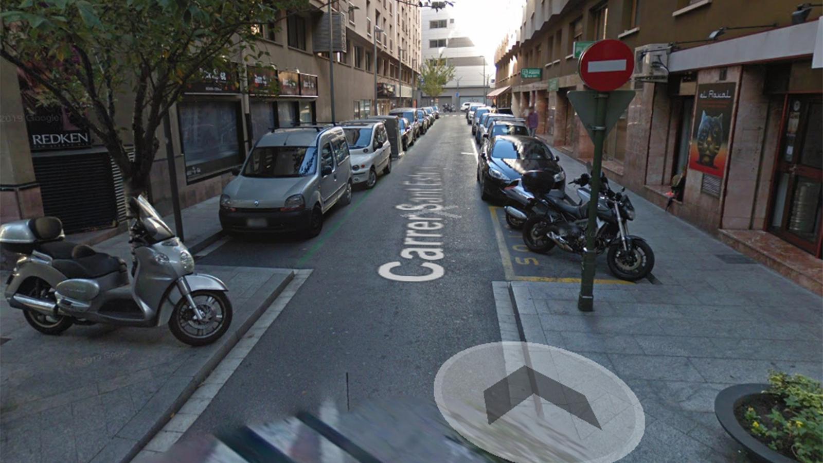 Una imatge del carrer Sant Esteve. / GOOGLE MAPS