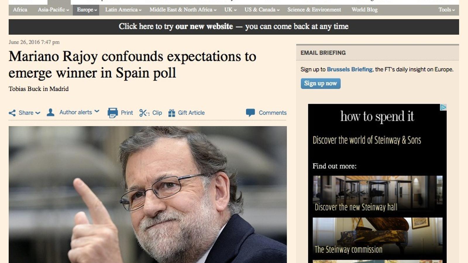 El 26-J a 'Financial Times'