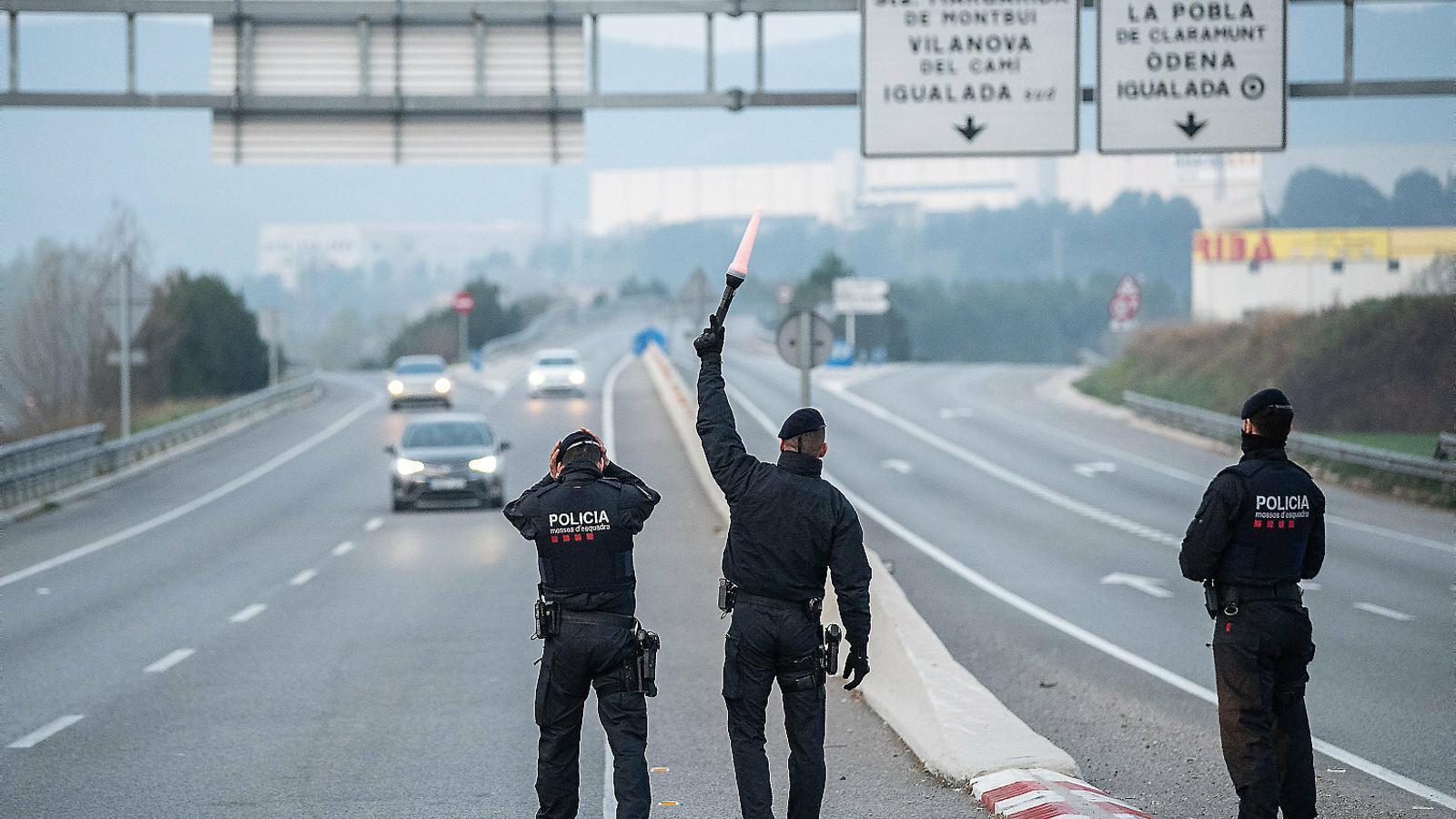 Igualada continuarà aïllada de la resta de Catalunya