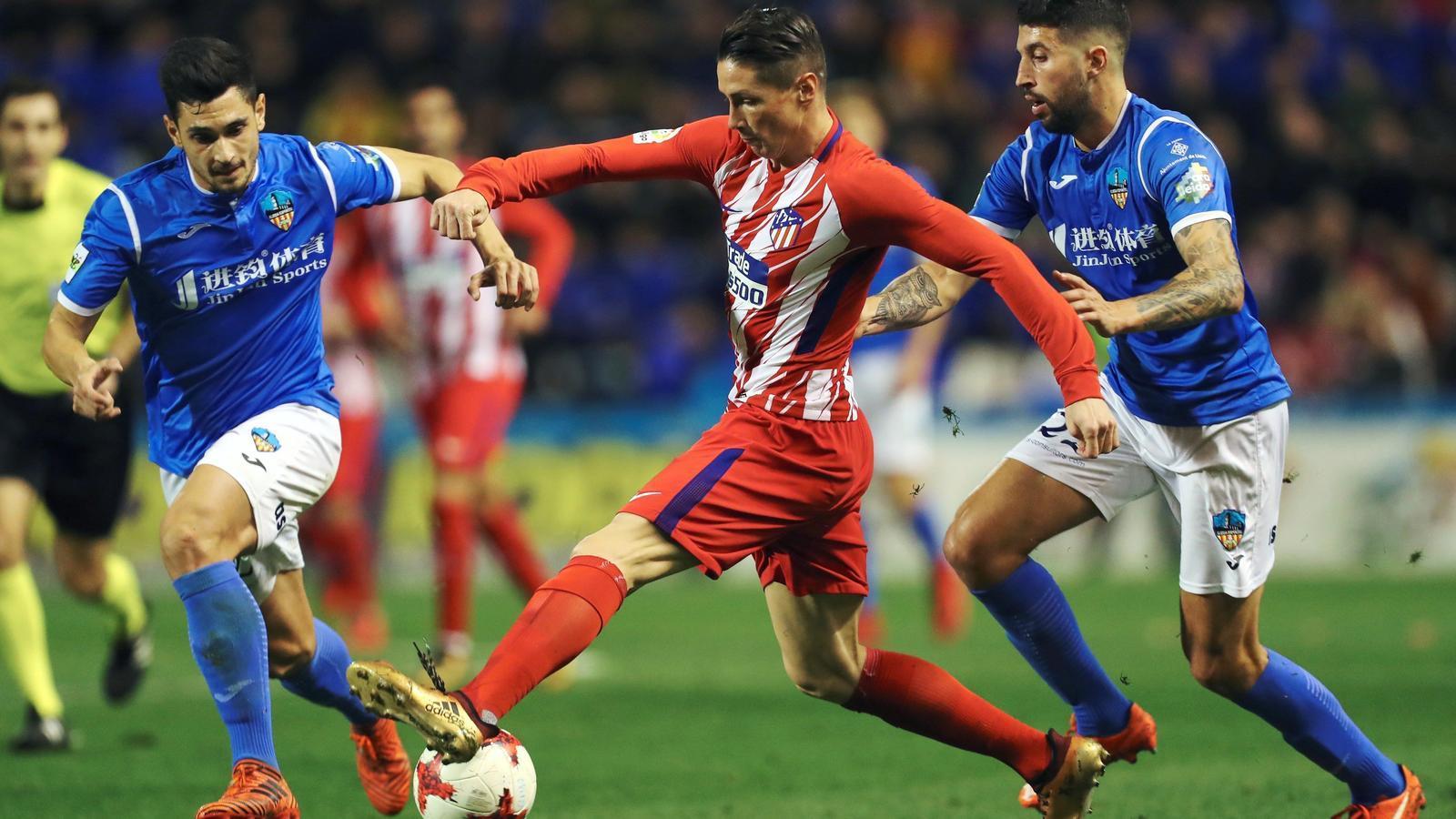 Fernando Torres, autor del segon gol de l'Atlètic de Madrid