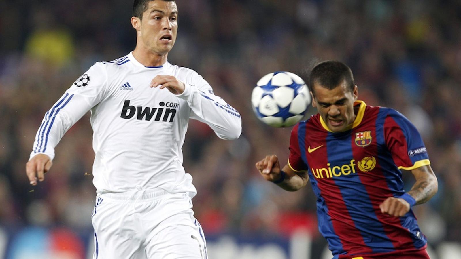 Cristiano Ronaldo i Dani Alves.