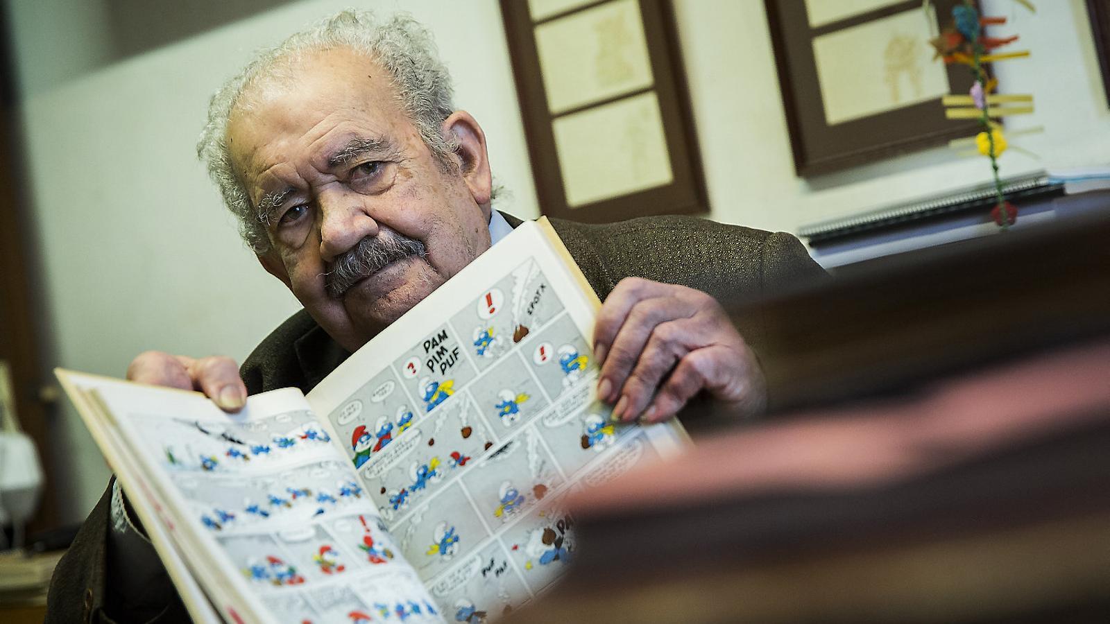 """Albert Jané: """"Amb el català s'ha de ser optimista des d'un punt de vista tàctic, per lluitar i actuar"""" / PERE VIRGILI"""