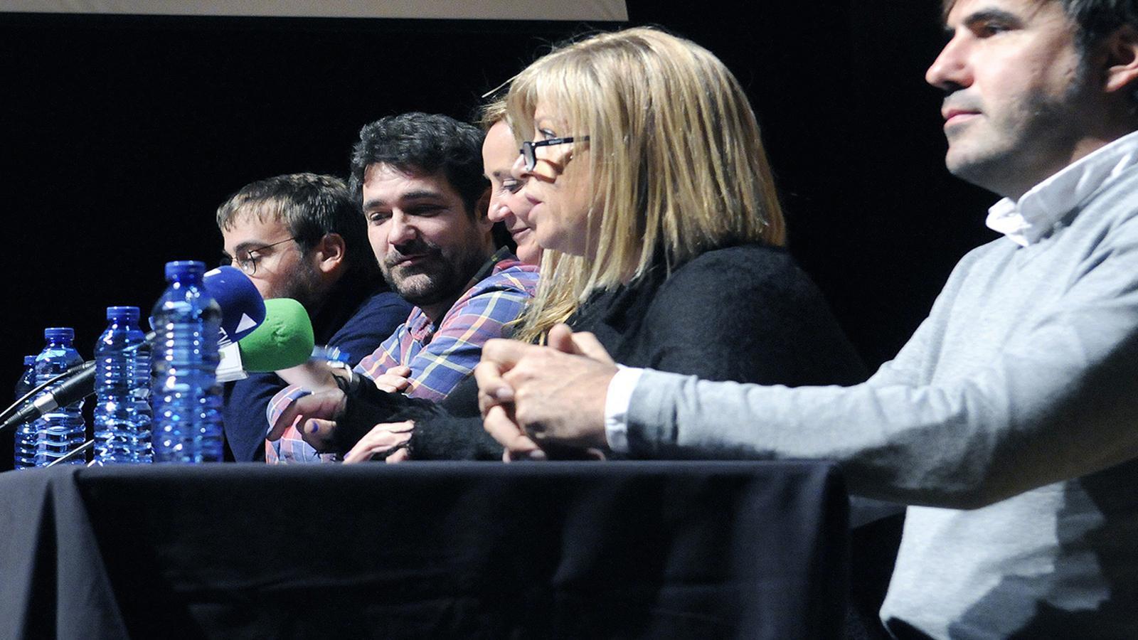 Un moment de la roda de premsa de presentació de la Temporada 2018 a l'Auditori Nacional d'Ordino. / SFGA