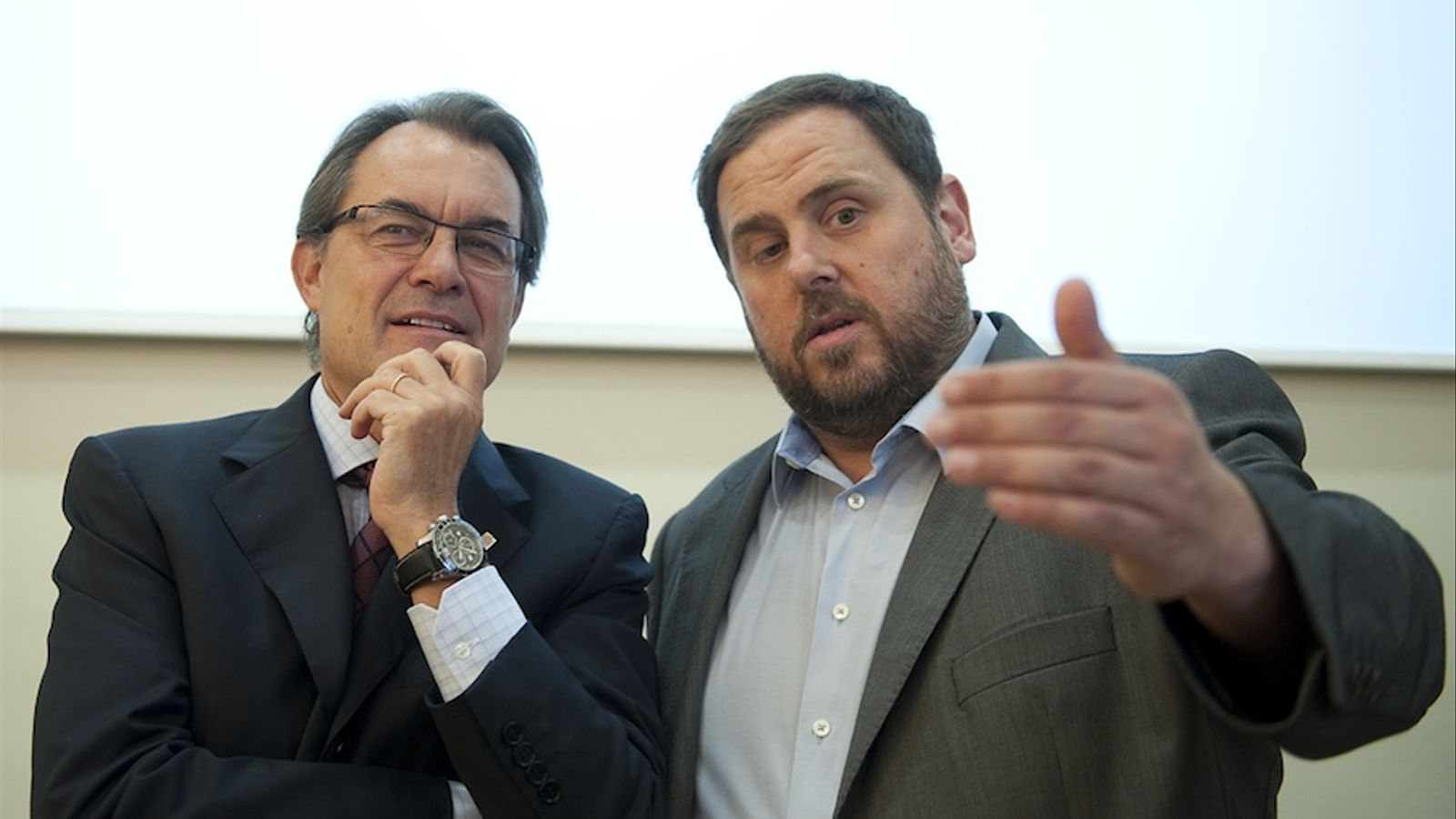 Artur Mas i Oriol Junqueras aquest divendres a Sant Vicenç dels Horts / FRANCESC MELCIÓN
