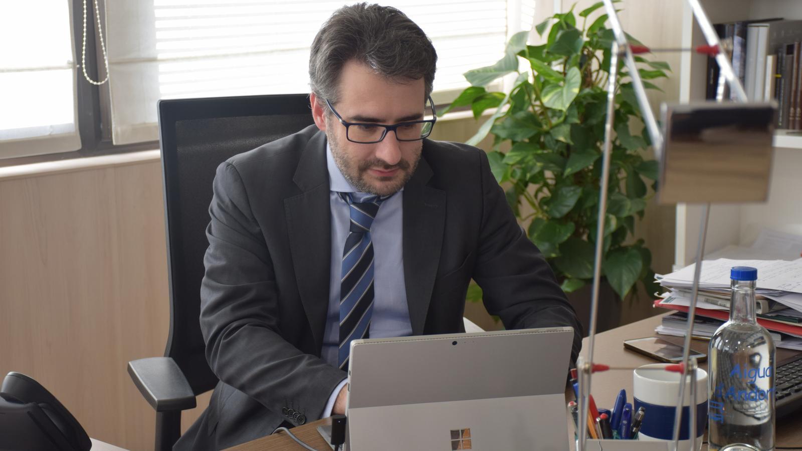 El ministre de Finances, Eric Jover. / M. R. F.