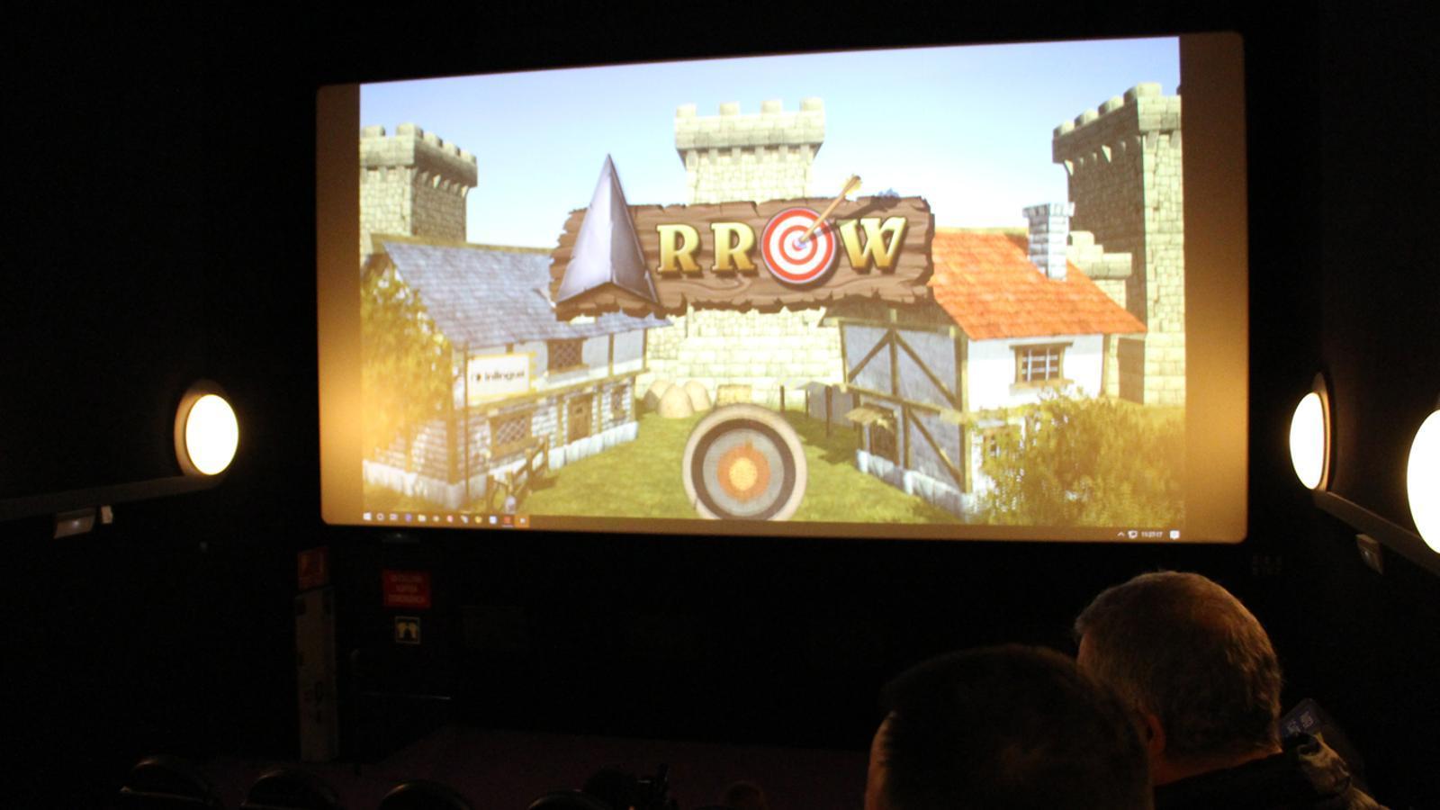 Un dels jocs interactius presentats aquest dijous als Cinemes illa Carlemany. / M. P. (ANA)